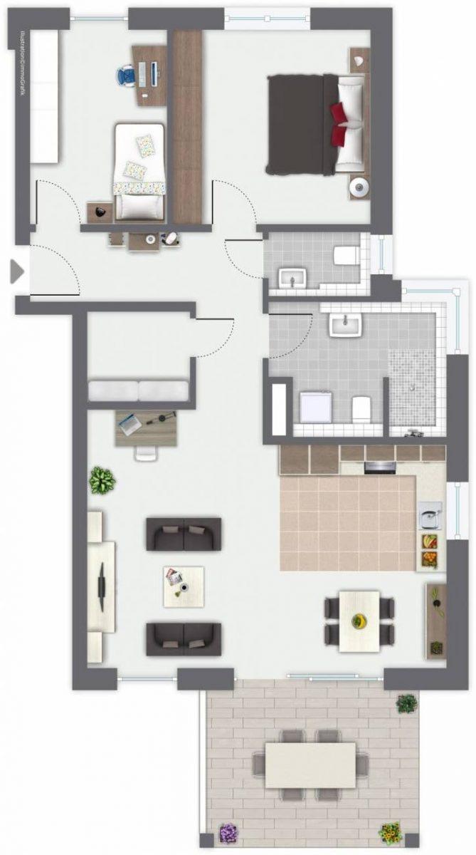 Neubau Oberndorf Lindenhof Merz Immobilien