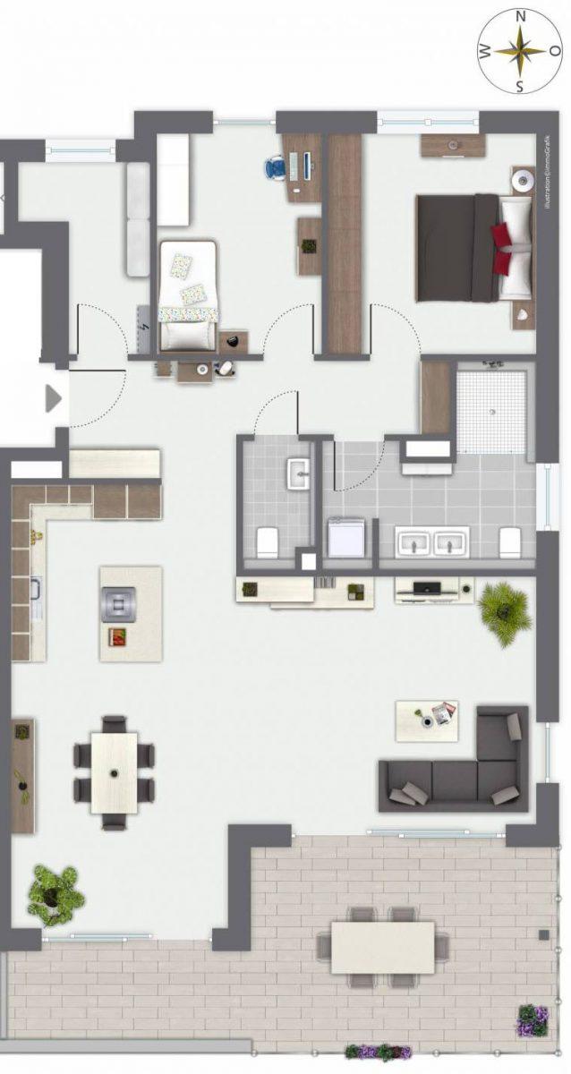 Merz Immobilien Attikageschoss Wohnung 9-2
