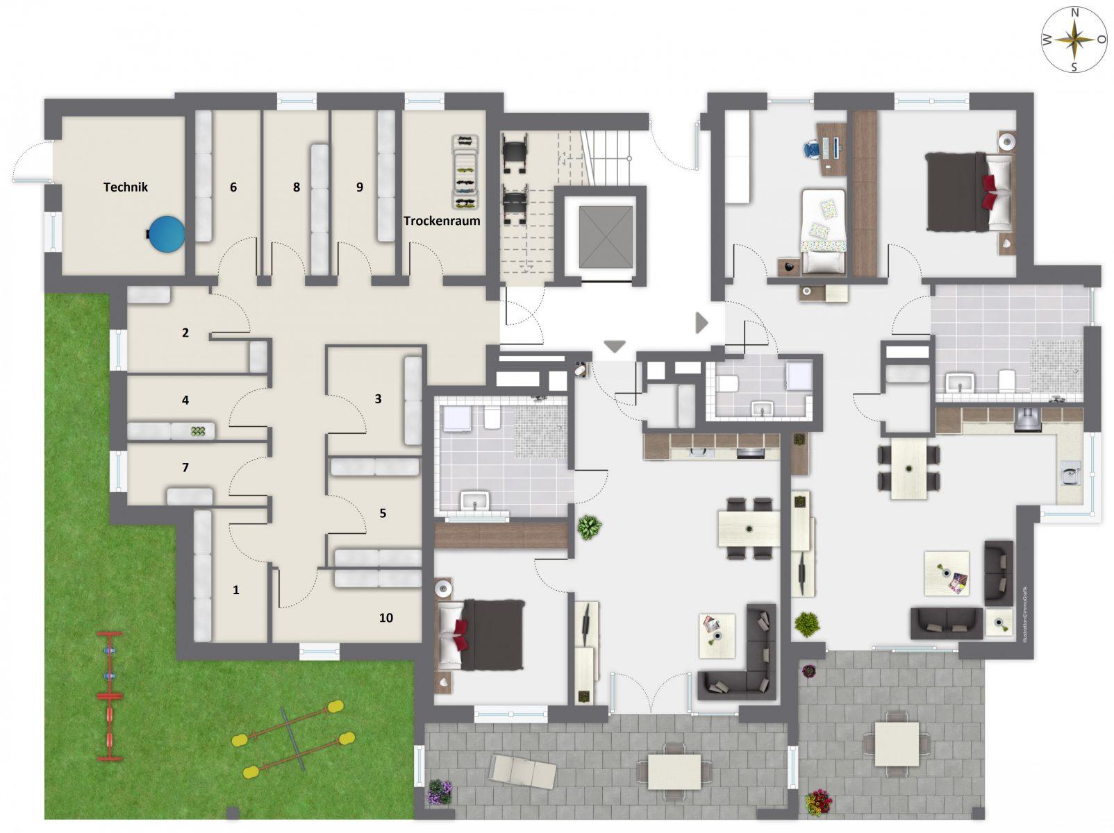 Merz Immobilien Erdgeschoss Planung